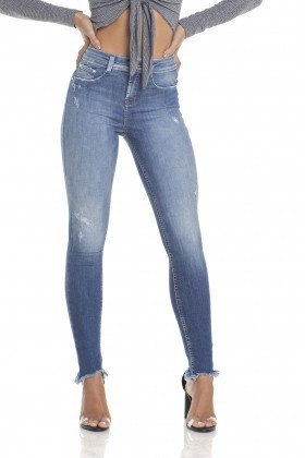 dz2907 calca jeans skinny media cigarrete com ragos frente crop denim zero