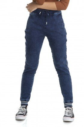 dz2894 calca jogger sport denim zero frente crop
