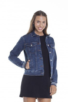 dz9100 jaquet jeans regular elastano frente crop denim zero