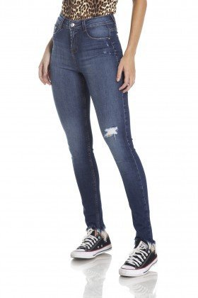 dz2964 calca skinny media puidos frente crop denim zero