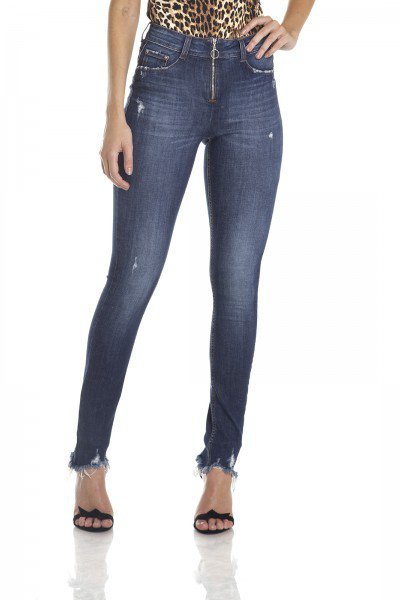 dz2969 calca skinny media ziper frontal frente crop denim zero
