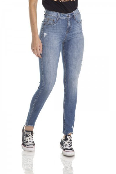 dz2973 calca skinny media cigarrete barra irregular frente crop denim zero