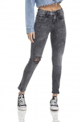dz2987 calca skinny media cigarrete black jeans rasgos frente crop denim zero