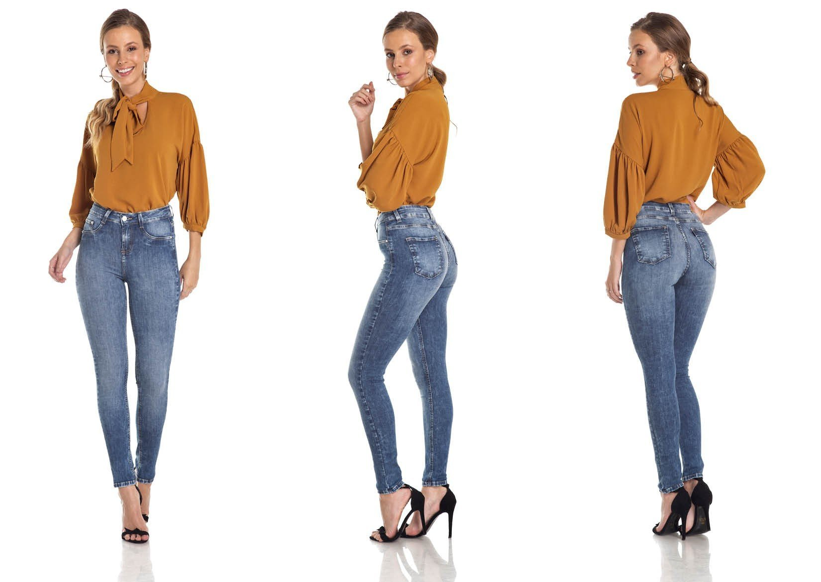 dz2976 calca skinny media cigarrete estonada trio denim zero