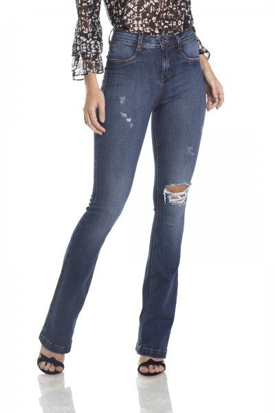 dz2980 calca boot cut media rasgos frente crop denim zero 2