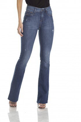dz2982 calca flare media puidos frente crop denim zero