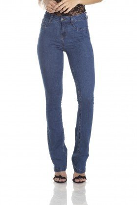 dz2957b calca boot cut media classica jeans medio frente crop denim zero