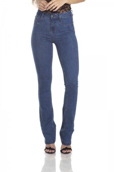 dz2957b calca boot cut media classica jeans medio frente crop denim zero