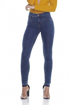 dz2897 calca jeans skinny media cigarrete barra frente crop denim zero