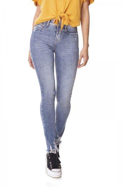 dz3057 calca jeans skinny media cigarrete com bigodes denim zero frente prox