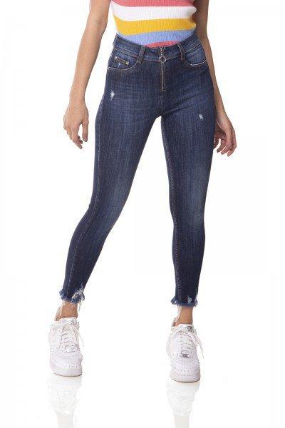 dz3061 calca jeans skinny media cigarrete barra desfiada denim zero frente 01 prox