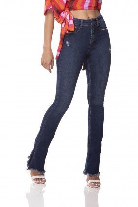 dz3063 calca jeans new boot cut com fenda denim zero frente 01 prox