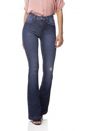 dz3064 calca jeans flare media estonada denim zero frente 02 prox