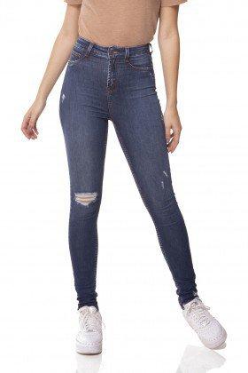 dz3066 calca jeans skinny cintura alta hot pants com rasgo denim zero frente prox