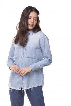dz11142 camisa jeans oversize clara denim zero frente prox