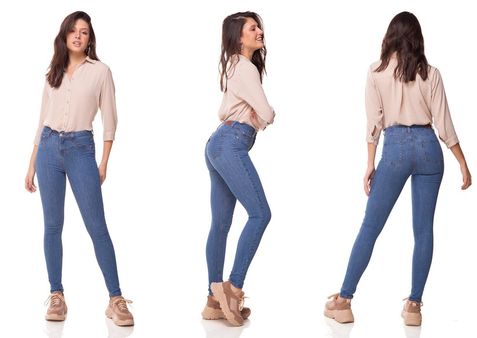 dz2970 a calca jeans skinny media jeans medio denim zero tripla