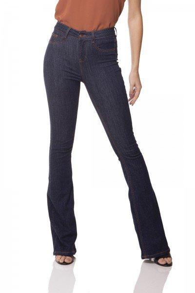 dz3073 calca jeans flare media escura denim zero frente prox