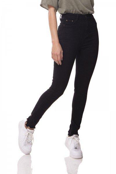 dz3077 calca jeans skinny cintura alta hot pants preto denim zero frente 01 prox