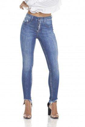 dz2908 calca jeans skinny media cigarrete efeito mullet frente crop denim zero