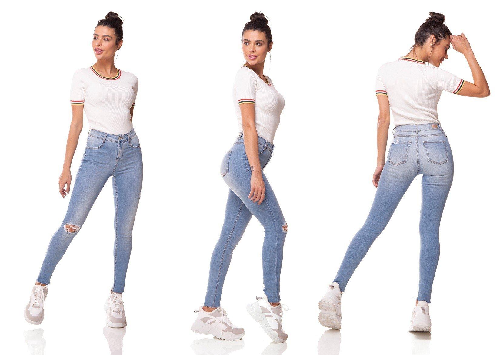 dz2998 calca jeans skinny media com rasgos denim zero tripla