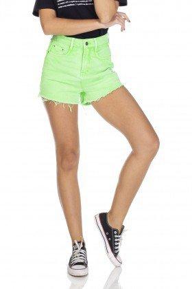 dz6215 shorts jeans setentinha verde neon denim zero frente 01 prox