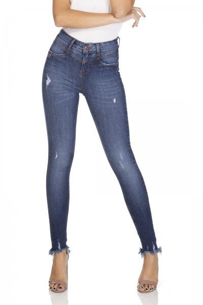 dz3093 calca jeans skinny media cigarrete barra desfiada denim zero frente 01 prox