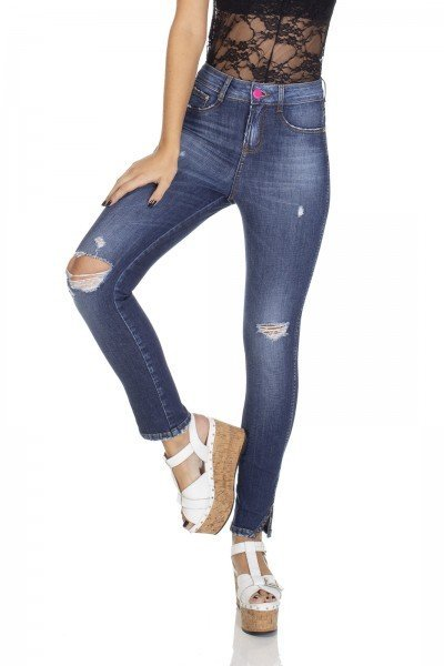 dz3100 calca jeans skinny media cigarrete com rasgo denim zero frente 03 prox