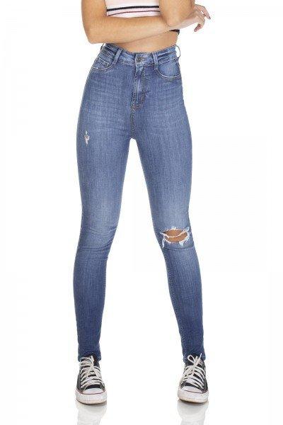 dz3104 calca jeans skinny cintura alta hot pants cigarrete denim zero frente prox