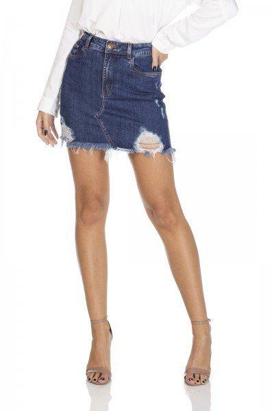 dz7101 saia jeans tubinho com rasgos denim zero frente 01 prox