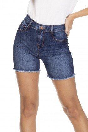 dz4028 bermuda slim jeans escura denim zero frente detalhe