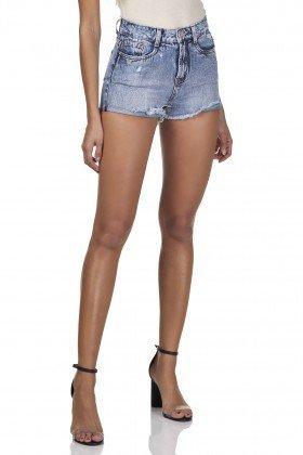 dz6293 shorts jeans feminino setentinha com puidos denim zero frente prox