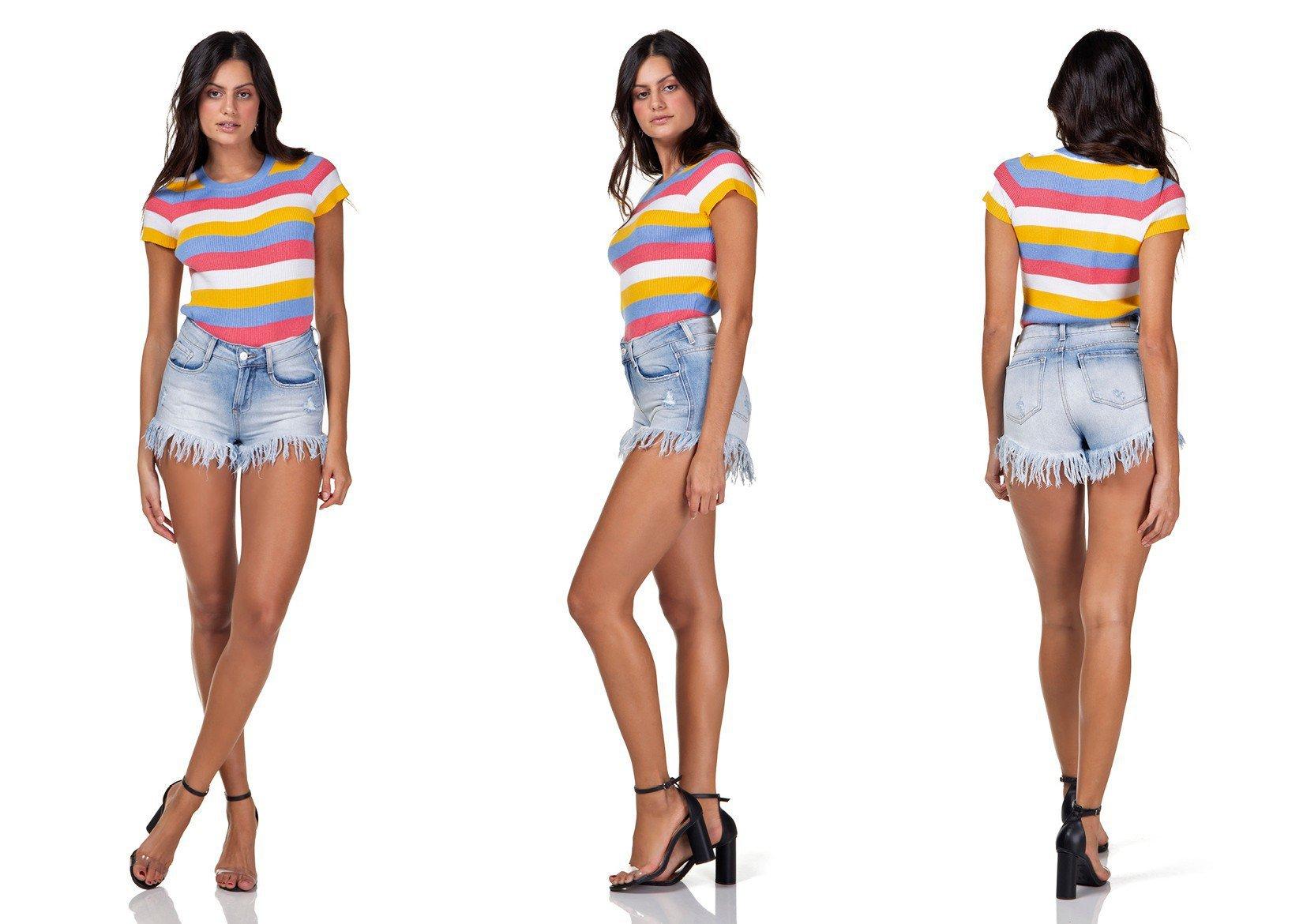 dz6295 shorts jeans feminino young barra desfiada denim zero tripla