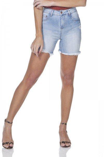 dz4031 bermuda jeans slim claro denim zero frente prox