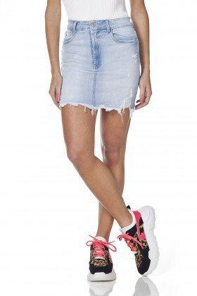 dz7105 saia jeans tubinho barra desfiada denim zero frente prox