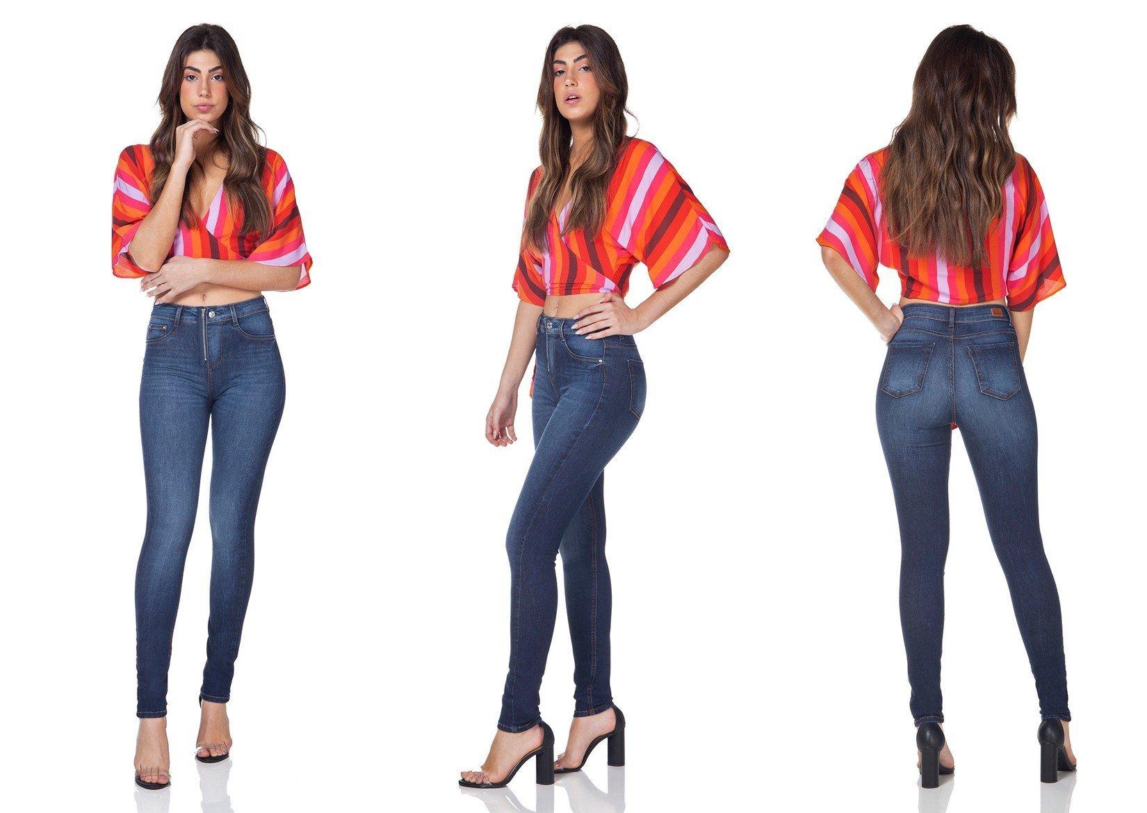 dz3095 calca jeans skinny media com ziper denim zero tripla