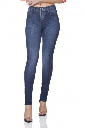 dz3095 calca jeans skinny media com ziper denim zero frente prox