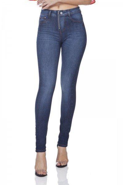 dz3095 calca jeans skinny media com ziper denim zero frente prox