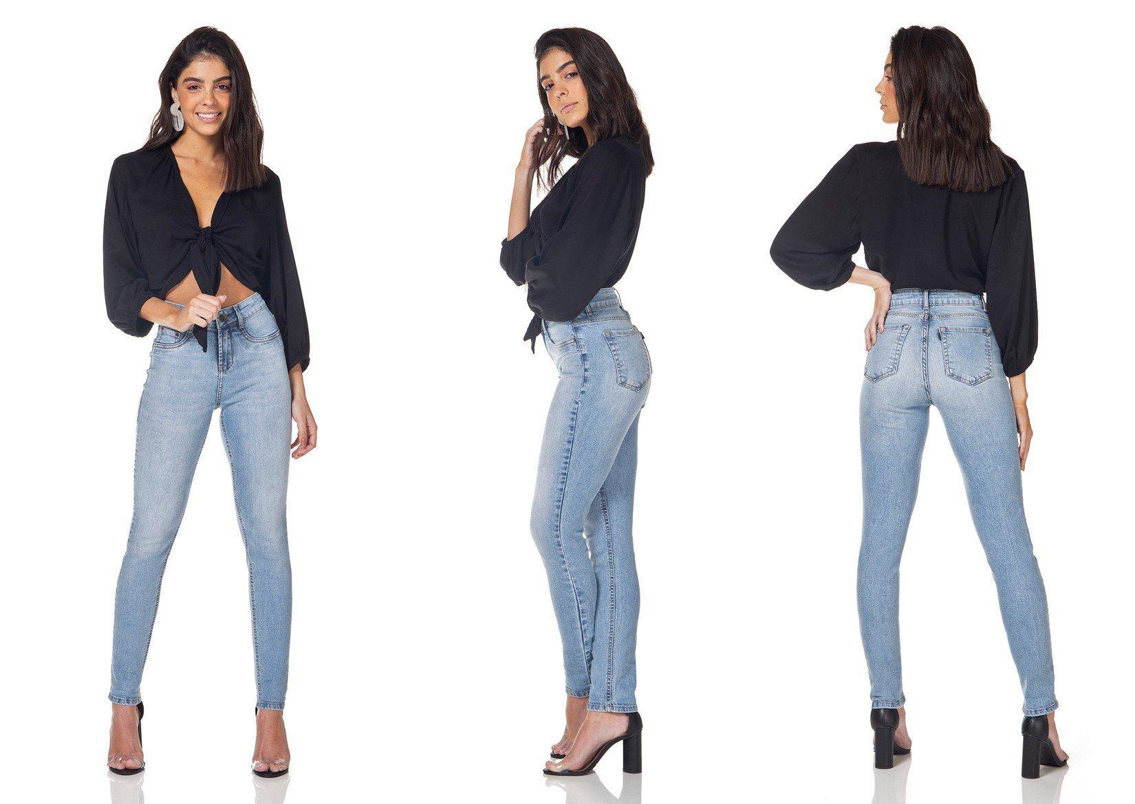 dz3157 calca jeans skinny media denim zero tripla