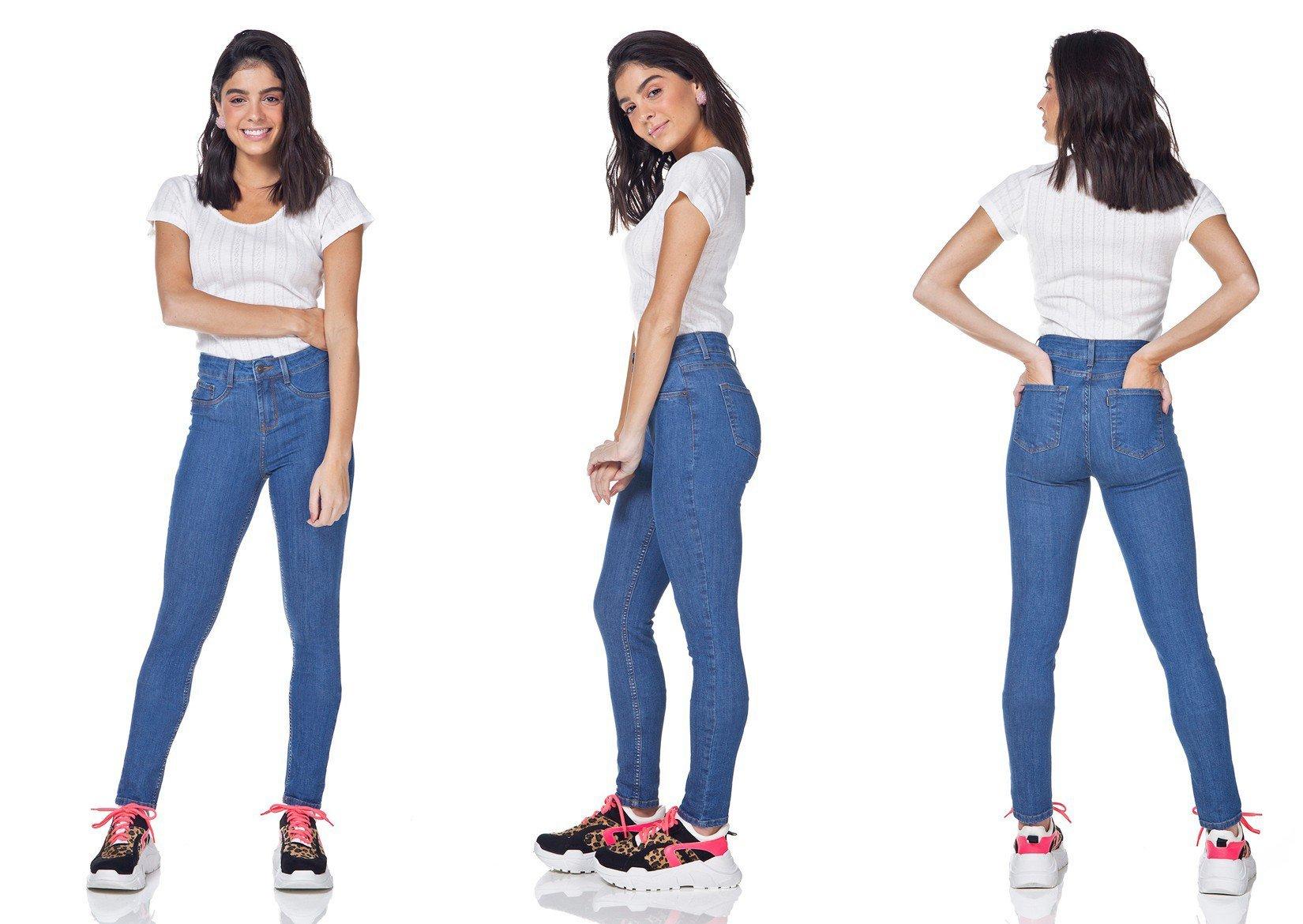 dz3166 calca jeans skinny media denim zero tripla