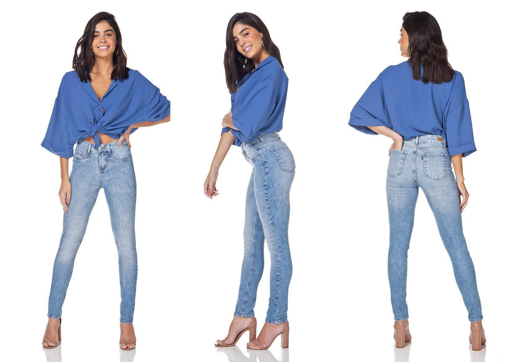 dz3156 calca jeans skinny cigarrete estonada denim zero tripla