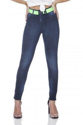 dz3153 calca jeans skinny cigarrete com cinto denim zero frente prox