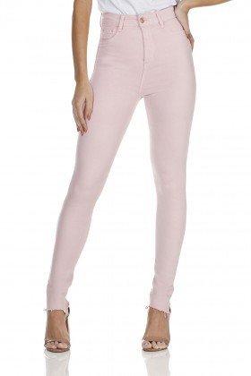 dz3127 calca jeans skinny cintura alta hot pants rosinha denim zero frente prox