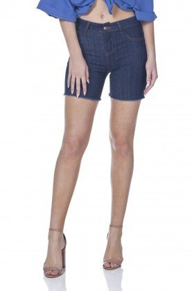 dz4030 bermuda jeans slim barra desfiada denim zero frente prox