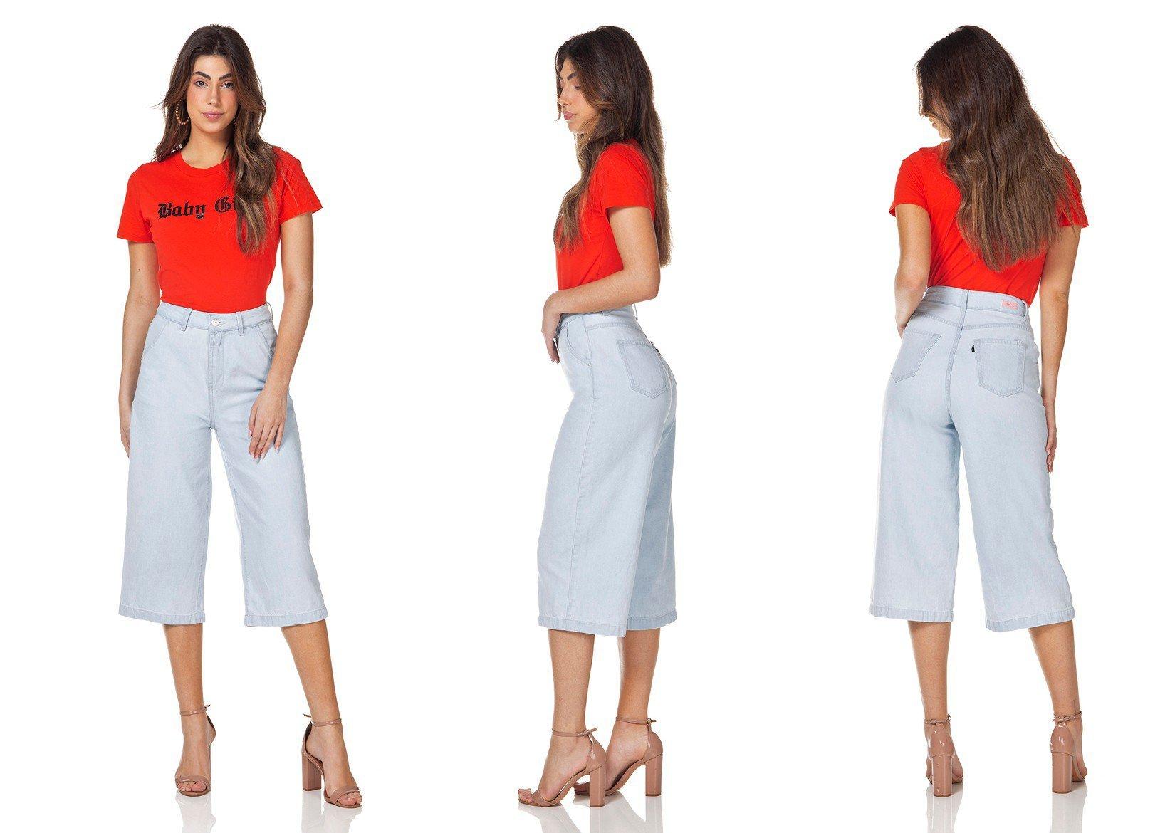 dz3143 calca jeans pantacourt denim zero tripla