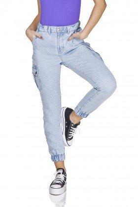 dz3237 calca jeans mom com bolsos laterais denim zero frente prox