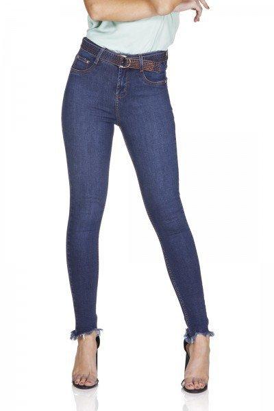 dz3198 calca jeans skinny cigarrete com cinto denim zero frente prox