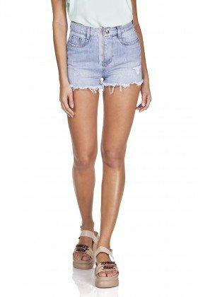 dz6331 shorts jeans setentinha com ziper denim zero frente prox