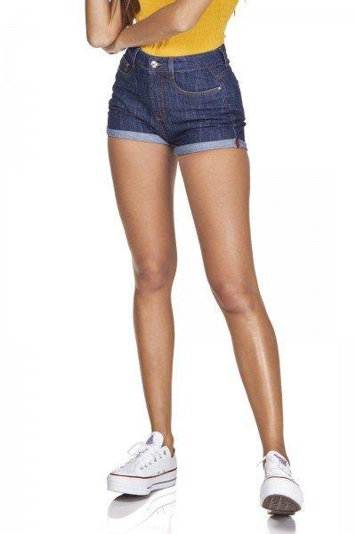 dz6328 shorts jeans setentinha barra dobrada denim zero frente prox