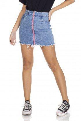 dz7100 saia jeans tubinho ziper neon denim zero frente 01 prox