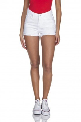 dz6346 shorts jeans setentinha black and white barra desfiada branco denim zero frente prox
